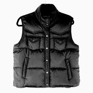 Ralph Lauren Black Puffer Down Fill Vest Large